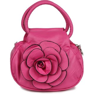varsha women potli flower bag pink