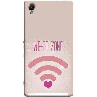 FUSON Designer Back Case Cover For Sony Xperia Z2 (5.2 Inches) (Love Wifi