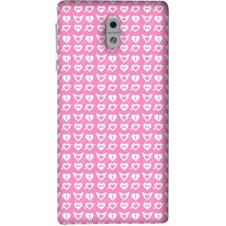 FUSON Designer Back Case Cover For Nokia 3 (Valentine Pink Metallic Cool Peace Sign Symbol Pillow)