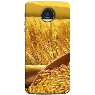 FUSON Designer Back Case Cover for Motorola Moto Z Force :: Motorola Moto Z Force Droid for USA (Wheat Farmers Farms Morning Sunlight Bright Day)