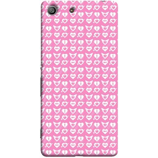 FUSON Designer Back Case Cover For Sony Xperia Z3 Compact :: Sony Xperia Z3 Mini (Valentine Pink Metallic Cool Peace Sign Symbol Pillow)