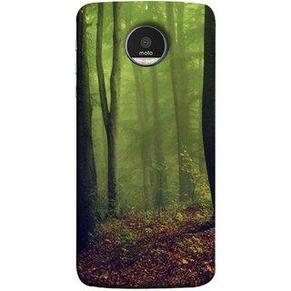 FUSON Designer Back Case Cover for Motorola Moto Z :: Motorola Moto Z Droid in USA (Tropical And Subtropical Coniferous Forests Wallpaper)