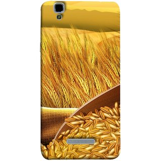 FUSON Designer Back Case Cover For YU Yureka Plus :: Yu Yureka Plus YU5510A (Wheat Farmers Farms Morning Sunlight Bright Day)