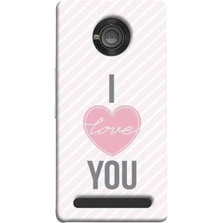 FUSON Designer Back Case Cover For YU Yuphoria :: YU Yuphoria YU5010 (Just Pinky Say Always I Love You Red Hearts Couples)