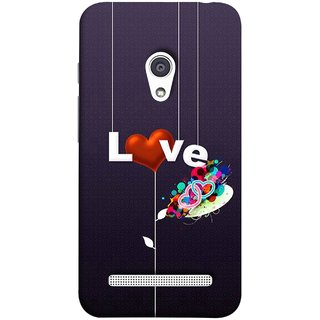 FUSON Designer Back Case Cover For Asus Zenfone 6 A600CG (Hearts Hanging Ropes Free Love Tree Multicolour)