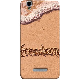 FUSON Designer Back Case Cover For YU Yureka :: YU Yureka AO5510 (Writing In Sand Fuzzy Water Handwritten Best Designn)