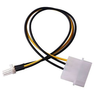 ACUTAS 4-Pin Molex / IDE to 3-Pin CPU/Case Fan Power Connector Cable Adapter 20cm