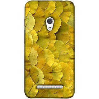 FUSON Designer Back Case Cover For Asus Zenfone Go ZC500TG (5 Inches) (Lotus Leaves In Row Heart Shape Old Dried )