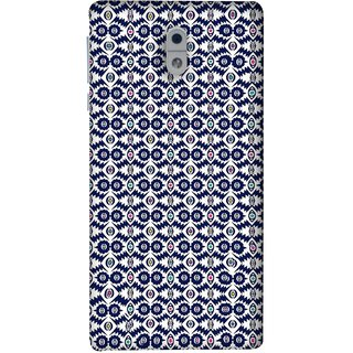 FUSON Designer Back Case Cover For Nokia 3 (Watercolor Hand Painted Blue Indigo Boho Pattern)