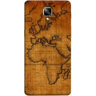 FUSON Designer Back Case Cover for OnePlus 3 :: OnePlus Three :: One Plus 3 (World Map Altitude And Longitude Countries India )
