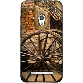 FUSON Designer Back Case Cover For Asus Zenfone Go ZC500TG (5 Inches) (Wheel Hay Cart Old Wagons Indian Cycle Rickshow)