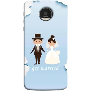 FUSON Designer Back Case Cover for Motorola Moto Z Force :: Motorola Moto Z Force Droid for USA (Photo Wallpaper Marriage White Dressed Bride )