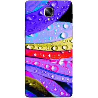 FUSON Designer Back Case Cover for OnePlus 3 :: OnePlus Three :: One Plus 3 (Macro Detail Of The Petals Pink Daisy Blue Red Yellow)