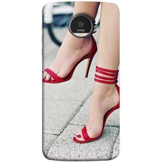 FUSON Designer Back Case Cover for Motorola Moto Z Force    Motorola Moto Z  Force Droid for USA (Sitting Wheels Design Red Nailpolish Womens Girls  Females ) f5d10c483e