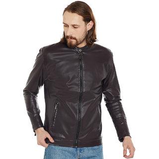 Stylogue Dark Brown Pu Leather Jacket