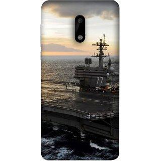FUSON Designer Back Case Cover For Nokia 6 (Indian Submarine Shoots Ship With Missile Training )