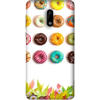 FUSON Designer Back Case Cover For Nokia 6 (Cute Food Donuts Themes For Parties Soft &Amp)