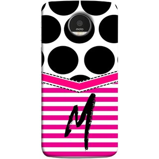 FUSON Designer Back Case Cover for Motorola Moto Z Force :: Motorola Moto Z Force Droid for USA (Beautiful Cute Nice Couples Pink Design Paper Girly M)