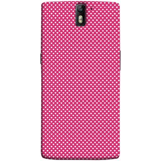 FUSON Designer Back Case Cover for OnePlus One :: OnePlus 1 :: One Plus One (Valentine Pink Metallic Hearts Cool Peace Sign Symbol)