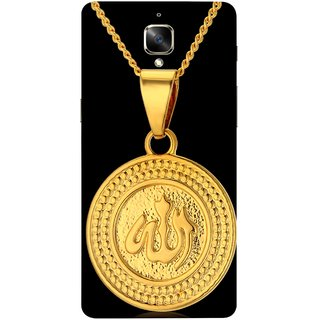 FUSON Designer Back Case Cover for OnePlus 3 :: OnePlus Three :: One Plus 3 (Allah Pendant Necklace For Men Middle East Necklaces)