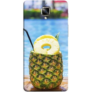 FUSON Designer Back Case Cover for OnePlus 3 :: OnePlus Three :: One Plus 3 (Fresh Pineapple Cocktails At Swimming Pool Blue Waters )
