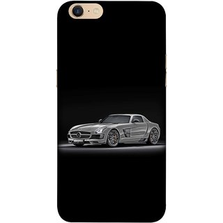 FUSON Designer Back Case Cover For Oppo A39 (Road Black White Clouds Beautiful Road Blue Side Mirror)