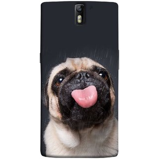 FUSON Designer Back Case Cover for OnePlus One :: OnePlus 1 :: One Plus One (Kissing Hanging Out Black And White Cream Colour)