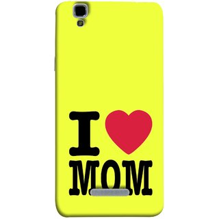FUSON Designer Back Case Cover For YU Yureka Plus :: Yu Yureka Plus YU5510A (Yellow Background Mother Hearts Pure And True Love)