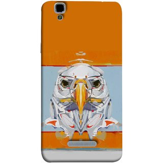 FUSON Designer Back Case Cover For YU Yureka Plus :: Yu Yureka Plus YU5510A (Stearing Eyes Deadly Look Canvas Vision Bird Sky High)