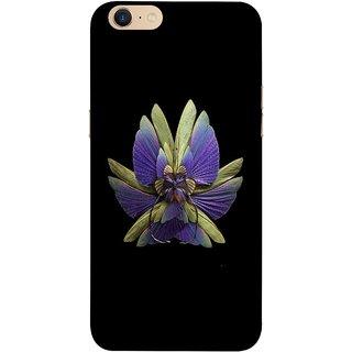 FUSON Designer Back Case Cover For Oppo A39 (Blue Prange Pink Multicolor Pink Flowers Patterns)