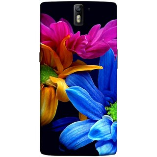 FUSON Designer Back Case Cover for OnePlus One :: OnePlus 1 :: One Plus One (Colourful Wow Hd Gerbera Flowers Pink Blur Orange)