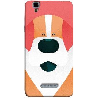 FUSON Designer Back Case Cover For YU Yureka Plus :: Yu Yureka Plus YU5510A (Big Smiling Puppy Canvas Painting Close Up Photo)