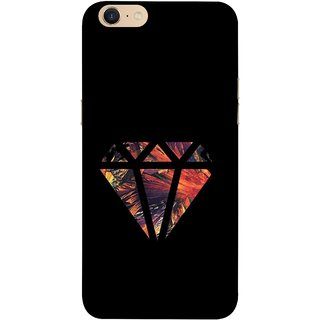 FUSON Designer Back Case Cover For Oppo A39 (Bright Beautiful Colour Strips And Band Wave Triangle)