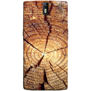 FUSON Designer Back Case Cover for OnePlus One :: OnePlus 1 :: One Plus One (Lot Of Cracks In Tree Wood Wild Old Tree)