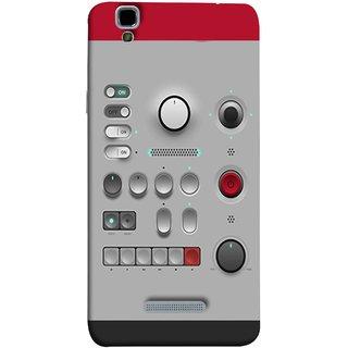 FUSON Designer Back Case Cover For YU Yureka Plus :: Yu Yureka Plus YU5510A (Lots Of Buttons Switch Lights Volumn Power Indicator)