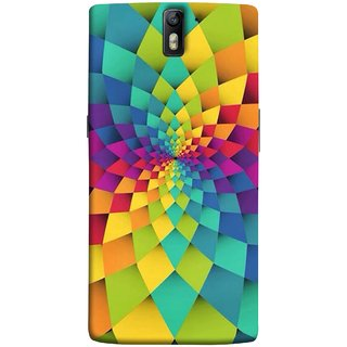 FUSON Designer Back Case Cover for OnePlus One :: OnePlus 1 :: One Plus One (Polygonal Background Colorful Abstract Geometric Best)
