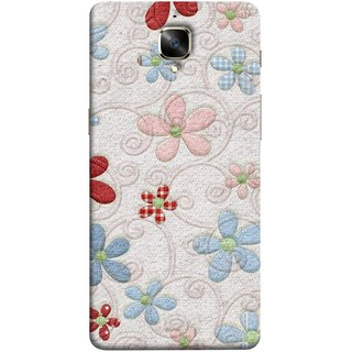 FUSON Designer Back Case Cover for OnePlus 3 :: OnePlus Three :: One Plus 3 (Nice Design Flowers Table Cloth Curtain Cloths )