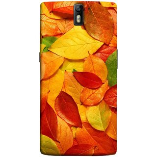 FUSON Designer Back Case Cover for OnePlus One :: OnePlus 1 :: One Plus One (Multicolour Dry Leaves Painting Bright Sunny Day )