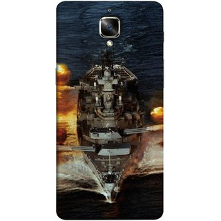 FUSON Designer Back Case Cover for OnePlus 3 :: OnePlus Three :: One Plus 3 (Indian Submarine Shoots Ship With Missile Training )