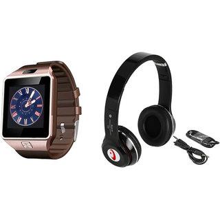 Clairbell DZ09 Smart Watch and S460 Bluetooth Headphone for MOTOROLA milestone xt  800(DZ09 Smart Watch With 4G Sim Card, Memory Card| S460 Bluetooth Headphone)