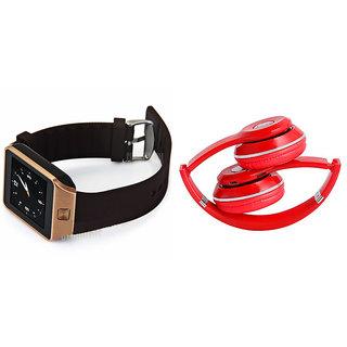 Clairbell DZ09 Smart Watch and S460 Bluetooth Headphone for LG OPTIMUS 3D(DZ09 Smart Watch With 4G Sim Card, Memory Card  S460 Bluetooth Headphone)
