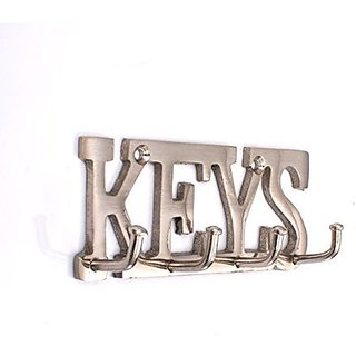 Shaks KEYS key holder with 4 Pronges - Steel finish