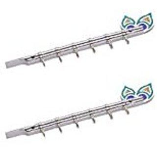 Shaks Traders Bansuri 4 pin keyholder set of 2