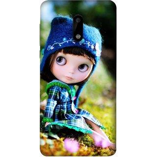 best service 63c7c af787 FUSON Designer Back Case Cover For Nokia 6 (Cute Barbie Doll Images Grass  Green Best Back Cover)