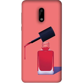 FUSON Designer Back Case Cover For Nokia 6 (Beautiful Cute Nice Couples Pink Design Paper Girly)