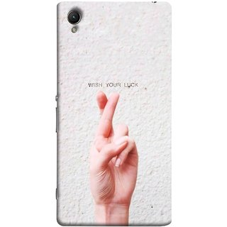 FUSON Designer Back Case Cover For Sony Xperia Z2 (5.2 Inches) (Always Wish You Best Success Happy Palm )