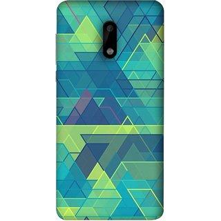 FUSON Designer Back Case Cover For Nokia 6 (Hexagonal Shape Abstract Pattern Geometric Shapes )