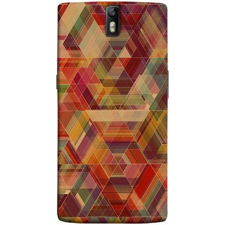 FUSON Designer Back Case Cover for OnePlus One :: OnePlus 1 :: One Plus One (Geometric Watercolour Art Print Pink Bright)