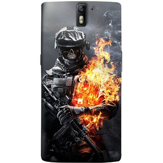 FUSON Designer Back Case Cover for OnePlus One :: OnePlus 1 :: One Plus One (Golden Division  Masks Iraqi Special Forces )