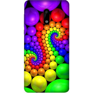 FUSON Designer Back Case Cover For Nokia 6 (Colourful Stones Easter Egg Games Children Enjoy Playing)